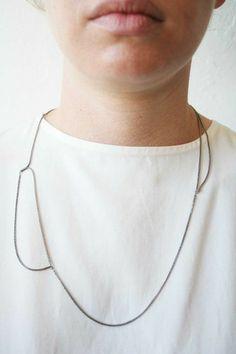 B2-SFL black siver necklace by Naoko Ogawa