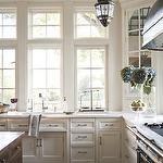 Austin Patterson Disston - Amazing U shaped kitchen with Moroccan style iron lanterns, ...