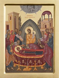 Dormition of our most holy Queen, the Theotokos and Ever-Virgin Mary. preceded by the Dormition Fast (Spasivka) Aug. Religious Images, Religious Icons, Religious Art, Byzantine Icons, Joy Of Life, Orthodox Icons, Sacred Art, Virgin Mary, Christian Faith