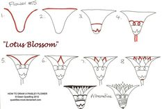 How to draw Paisley Flower 15 Lotus blossom by Quaddles-Roost.deviantart.com on @deviantART