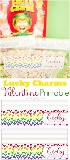 Lucky Charms Valentine Free Printable on Capturing-Joy.com