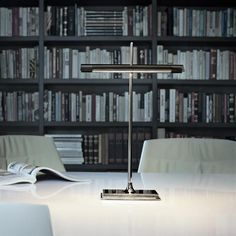 GOLDMAN by Ron Gilad for #FLOS is a new take on the traditional library lamps with LED.