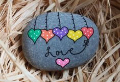Your place to buy and sell all things handmade Rock Painting Patterns, Rock Painting Ideas Easy, Rock Painting Designs, Pebble Painting, Pebble Art, Stone Painting, Painted Rocks Craft, Hand Painted Rocks, Drawing Rocks