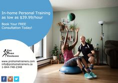 Hire your own in-home personal trainer! Visit: www.prohometrainers.com