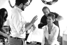 NOOSHIN director Rob briefing Dite on the shoot