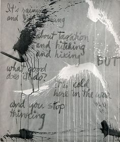 Norman Bluhm (American, 1920-1999). It's Raining, 1960. The Metropolitan Museum of Art, New York. Gift of Mr. and Mrs. Norman Bluhm, 1984 (1984.333). #PowerofPrints #MetonPaper100