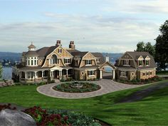 Shingle Home Plan with 11000 Square Feet and 5 Bedrooms from Dream Home Source | House Plan Code DHSW077606
