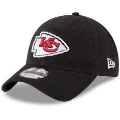 Men s Kansas City Chiefs New Era Black Core Classic Secondary 9TWENTY  Adjustable Hat e3a5c9a74d35