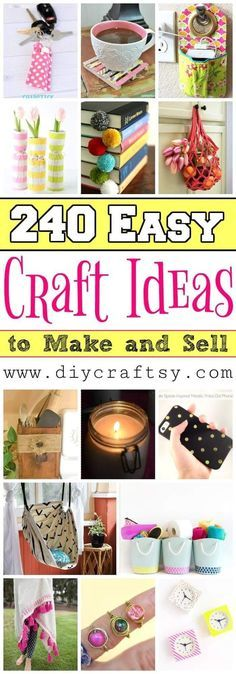 Easy Craft Ideas to Make and Sell - DIY Crafts - DIY Projects to sell on etsy extra cash 240 Easy Crafts to Make and Sell – DIY Craft Ideas Easy Crafts To Sell, Sell Diy, Crafts For Kids, Craft Fair Ideas To Sell, Crafts For Sale, Make To Sell, Diy Gifts To Sell, Money Making Crafts, Craft Sale