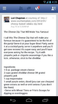 Famous Cheese Dip