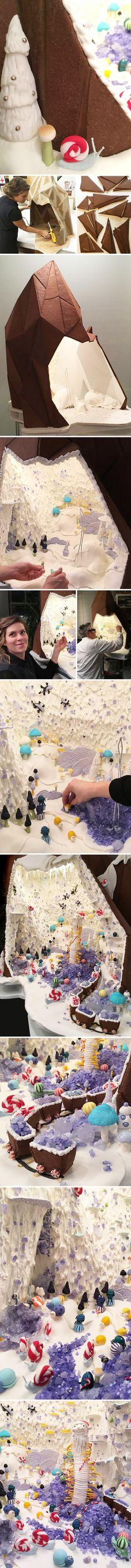 """sugar mountain"" gingerbread creation by artists ben skinner & genevieve dionne ?!?"
