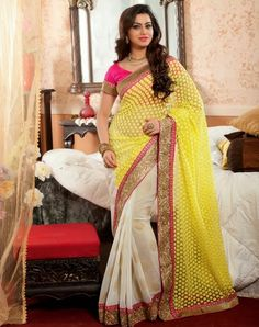 we offer a wide range of Fabulous Designer Sarees. These sarees are creatively designed and developed by our experienced craftsmen and team members using finest quality net fabrics. Demands of these sarees are increasing day by day owing to its fine finish, uniqueness and attractiveness. One can avail these sarees in variety of range, models and color combinations.