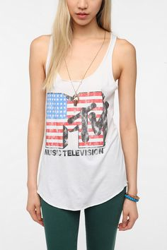 Recycled Karma MTV Flag Tank Top Online Only #HerschelSupply #Holiday