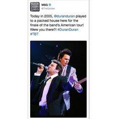 """Duran Duran (@duranduran) su Instagram: """"Yesterday. #thegarden. #duranlive #duranduran #astronaut #tourlife"""""""