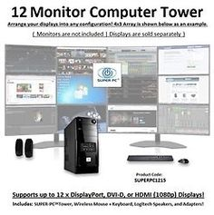 SUPER PC | 12 Monitor Computer | 6th Gen Intel Core i7 Quadcore | SUPERPC1215 #SUPERPC