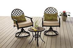 Anna 3pc Bistro Set Furniture, Outdoor Decor, Patio Set, Home, Patio Furniture, Bistro Set, Outdoor Chairs, Outdoor Furniture, Garden Furniture