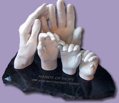 LifeCast Statues of your child's hand and footprints
