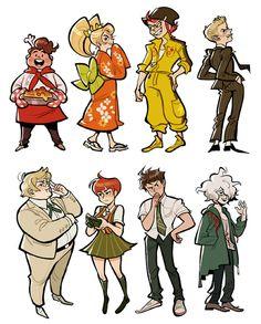 Hinata, fuyu and souda look so good here. Danganronpa Characters, Super Danganronpa, Nagito Komaeda, Otaku, Fanart, Homestuck, Hinata, Manga, Anime Art