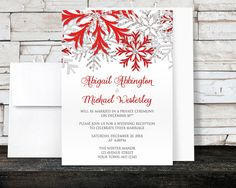 Hey, I found this really awesome Etsy listing at https://www.etsy.com/listing/209348742/winter-reception-only-invitations-and