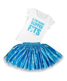 Disney Cinderella 'If the Glass Slipper Fits' Tee & Tutu - Girls #zulily #zulilyfinds