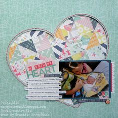 Becky Litz Sept Creative Kit from My Creative Scrapbook Kit Club Heritage Scrapbooking, Scrapbooking Ideas, Scrapbook Layouts, Baby Scrapbook, Sketch Design, Quilts, Create, Gallery, Projects