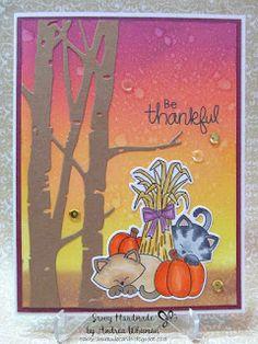 Savvy Handmade Cards: Autumn Newton Thankful Card