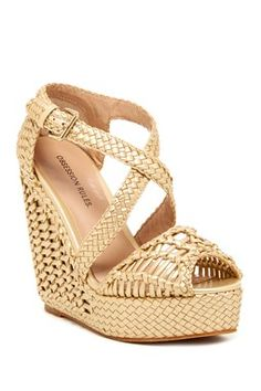 Obsession Rules Valencia Woven Wedge Sandal