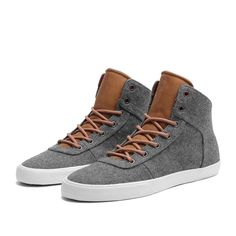SUPRA CUTTLER Shoe | GREY / BROWN - WHITE | Official SUPRA Footwear Site
