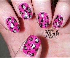 Pink Leopard nails #manicure #pretty #glamour #nail #nails #cute #design #color #nailart #art #beauty #pink