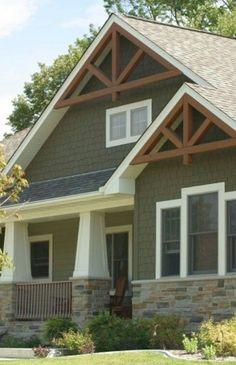 19 Trendy Home Design Ideas Craftsman Exterior Colors Design Exterior, House Paint Exterior, Modern Exterior, Exterior Siding, Corbels Exterior, Exterior Houses, Exterior Windows, Rustic Exterior, Exterior Stairs