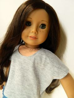 American Girl Doll Clothes Grey Lightweight Knit by 18Boutique