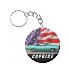 1968 Caprice Sedan Basic Round Button Keychain