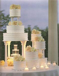 Bolos de casamento luxuosos