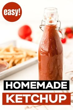 Learn how to make this easy homemade ketchup recipe. Delicious and ready in just 5 minutes this uses ingredients you probably already have in your store cupboard. This easy ketchup recipe is keto, low carb and sugar free. Yummy Healthy Snacks, Healthy Dinner Recipes, Low Carb Recipes, Real Food Recipes, Homemade Ketchup Recipes, Homemade Seasonings, Low Carb Side Dishes, Healthy Side Dishes, Trim Healthy Mama Plan