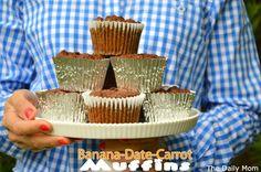 Banana-Date-Carrot Muffin Recipe {Gluten free- No Sugar Added) | Healthy Ideas for Kids