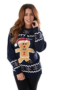 NEW 2015 CHRISTMAS JUMPERS UNISEX GINGER BREAD EXCLUSIVE DESIGNS