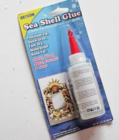 Finally! A proper adhesive for seashells and more! Yay!