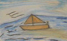 Île de Grand-Manan_Petit bâteau vas loin_335_pastels Rembrandt Loin, Rembrandt, Pastels, Painting, Painting Art, Paintings, Drawings
