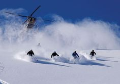 """When someone asks me if I've been ski-diving, I'll be able to say, """"Nope, I've only been *HELI SKIING*, BEOTCH!"""""""