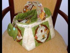 Cesto (cesta) de costura em patchwork, patchwork foundation, Ateliê na TV, Aula patchwork,