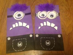 Despicable Me Birthday Party Purple Minion Treat Goody Bags on Etsy, $19.00