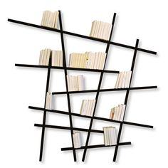 Bibliothèque Mikado / Large - L 215 x H 220 cm Noir - Compagnie - Décoration et mobilier design avec Made in Design