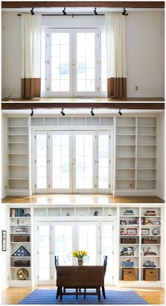 Home Remodeling Living Room Bookshelves Ideas Home Renovation, Home Remodeling, Bedroom Remodeling, Kitchen Renovations, Cheap Home Decor, Diy Home Decor, Bookshelves Built In, Book Shelves, Bookshelf Styling