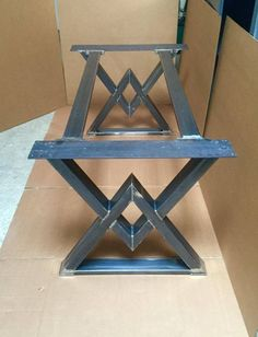 The Diamond Dining Table Base Industrial Base Sturdy Heavy