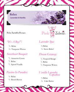 Relax Recipes www.pinkzebrahome.com/lancasterscents lancasterscents@gmail.com