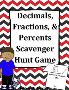 My students are already bugging me for another scavenger hunt. This was a great way to practice converting between decimals, fractions, and percents while getting students out of their seats.  #TpT