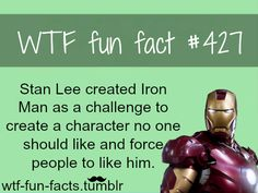 I love you Stan Lee. And of course we are going to like iron man if you cast Robert Downey Jr., and because his character is outright funny Dc Movies, Marvel Movies, Levi X Eren, Wtf Fun Facts, Robert Downey Jr, Tony Stark, Marvel Cinematic Universe, Marvel Avengers, Nerdy