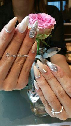 Nude Glamour Gel Nails  #nails #gelnails #nudenails