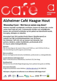 8 Jun - Wat kun je samen nog doen? - Alzheimer Café Haagse Hout - http://www.oktip.nl/8-jun-kun-samen-nog-alzheimer-cafe-haagse-hout/