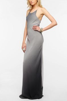KNT By Kova & T Ombre Chiffon Maxi Dress